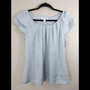 Dress Barn Silver Blouse Size Small NWT
